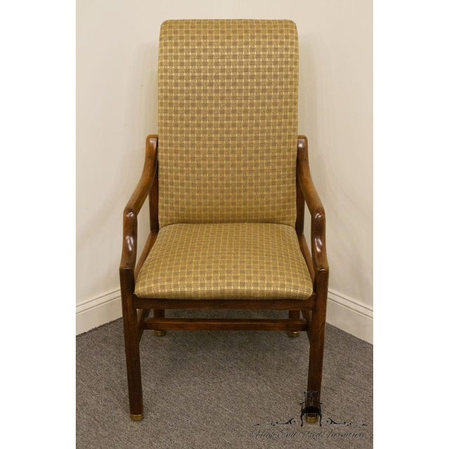 """HENREDON Solid Walnut Mid Century Modern Dining Arm Chair 2360 2781 2 available, priced each. 42.5"""" High 22.25"""" Wide 23.5""""..."""