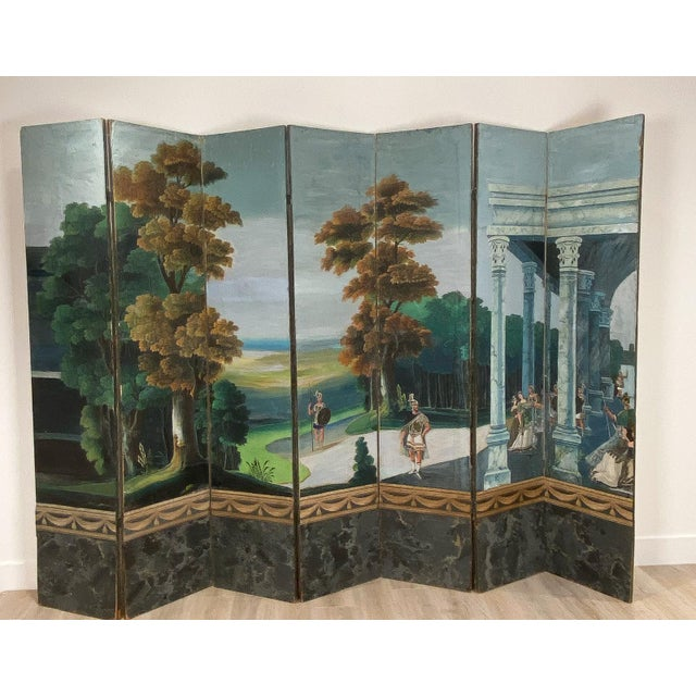 19th Century Wallpaper Screen, France 19th Century For Sale - Image 5 of 7