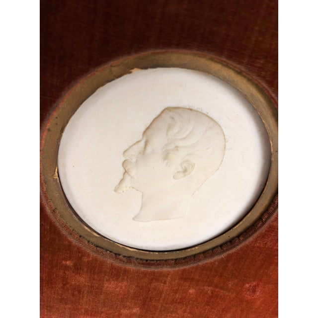 Pair Sevres Bisque Plaques of French Emperor Napoleon III & His Wife by J. Peyre For Sale - Image 9 of 11