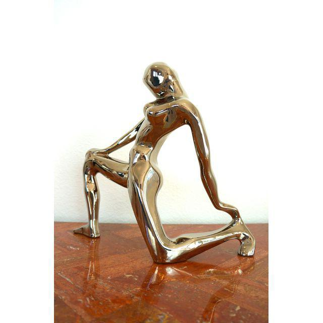 Mid-Century Modern 1980s Jaru Chrome Abstract Nude Figure For Sale - Image 3 of 6
