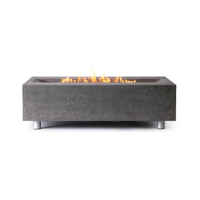Metal PyroMania Millenia Fire Pit Table - Slate Color, Propane For Sale - Image 7 of 11