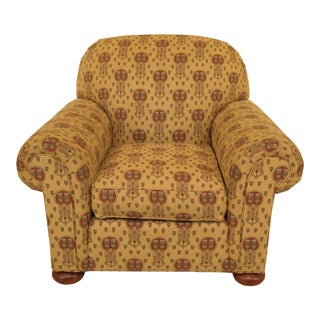Stickley Native American Print Upholstered Club Chair For Sale