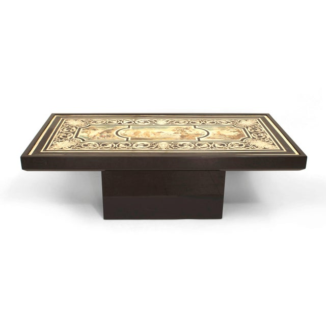 Contemporary Coffee Table With 18th C. Italian Neoclassical Top For Sale In New York - Image 6 of 6