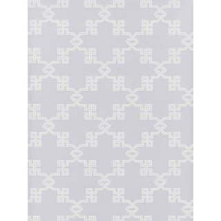 Scalamandre Suzhou Lattice, Lavender Wallpaper For Sale