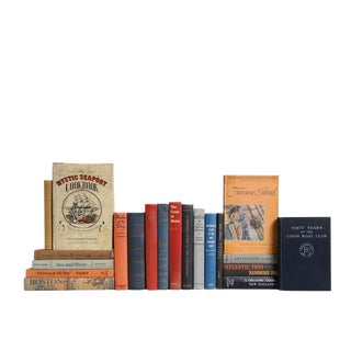 New England Sea Port Nautical MIX : Set of Twenty Decorative Books