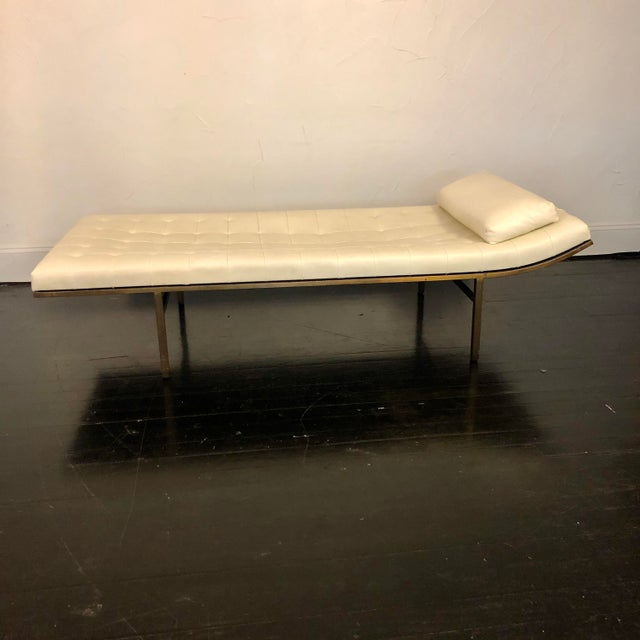 An elegant and extremely comfortable chaise or daybed by Jules Heumann for Metropolitan Furniture SF with a sleek modern...