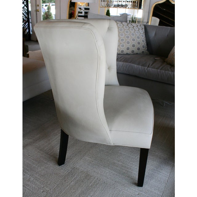 Marvell Ivory Leather Goodman Chair For Sale - Image 4 of 5