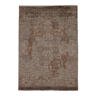 "Pasargad N Y Modern Wool & Bamboo Silk Hand Knotted Area Rug - 5'6"" X 7'9"" For Sale"