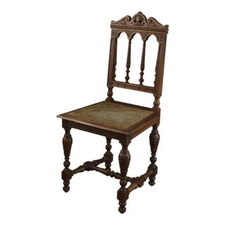 Antique Dining Chair Oak For Sale