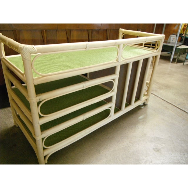 Rattan/Bamboo Vintage Storage Console - Image 7 of 7