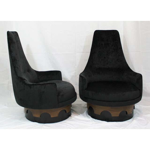 Adrian Pearsall King Swivel Chairs - A Pair - Image 4 of 4