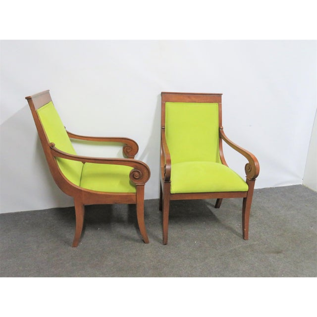 Traditional Ethan Allen Regency Style Chairs- a Pair For Sale - Image 3 of 11
