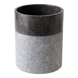 Crosby Waste Basket, Black/Grey For Sale