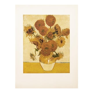 "1950s Vincent Van Gogh, ""Sunflowers"" First Edition Vintage Lithograph Print For Sale"