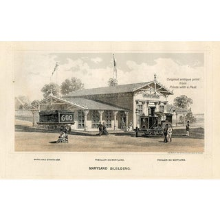 Maryland Centennial Expo Print, 1876 For Sale