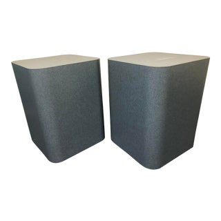 Blue Modern End Tables - A Pair For Sale