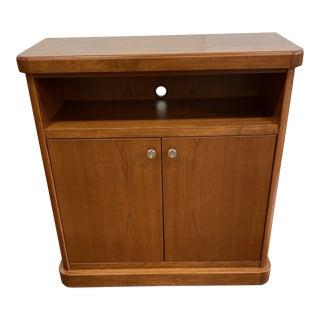 Custom Wood Media Cabinet For Sale