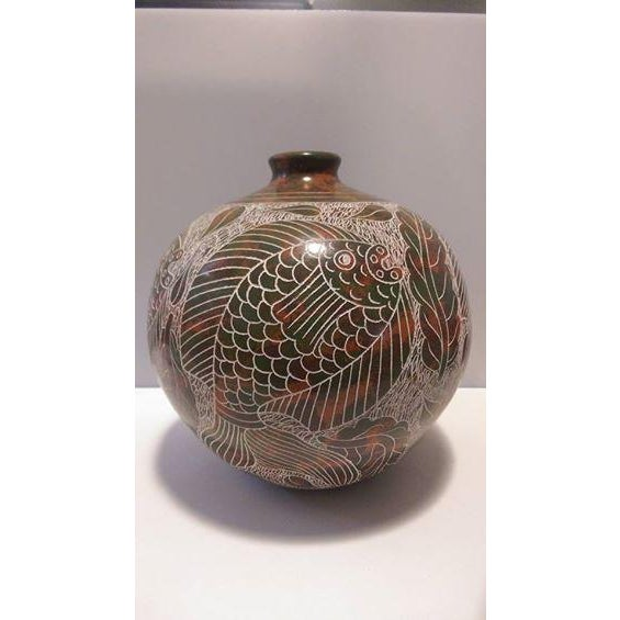 Nicaraguan Artisan Pottery Vase - Image 3 of 7