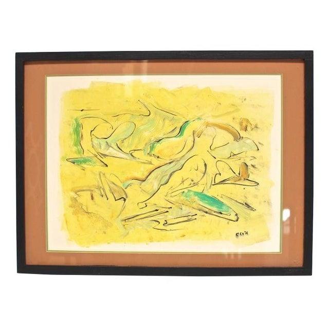 "Allan Cox Asian Mono Print ""Tidal Confluence"" - Image 1 of 4"