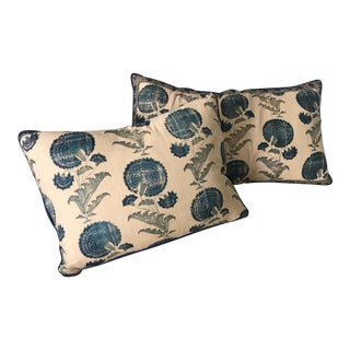 Traditional Jasper / Michael Smith Indian Flower Pillows - a Pair For Sale