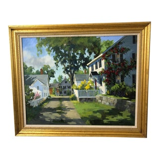 Traditional Sunny Afternoon Original Painting by Line Tutwiler For Sale
