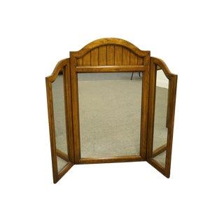 "Dixie Furniture Italian Provincial 57"" Tri-Fold Dresser Mirror For Sale"