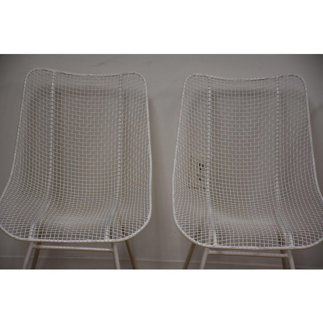Russell Woodard 'Sculptura' White Patio Dining Chairs- Set of 4 - Image 2 of 7