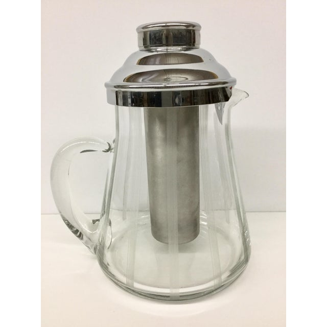 1960s Mid-Century Modern Mint Glass Decanter For Sale - Image 11 of 11