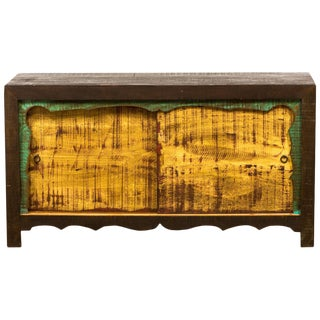 Mongolian 2-Door Eco-Friendly Reclaimed Solid Wood Sideboard