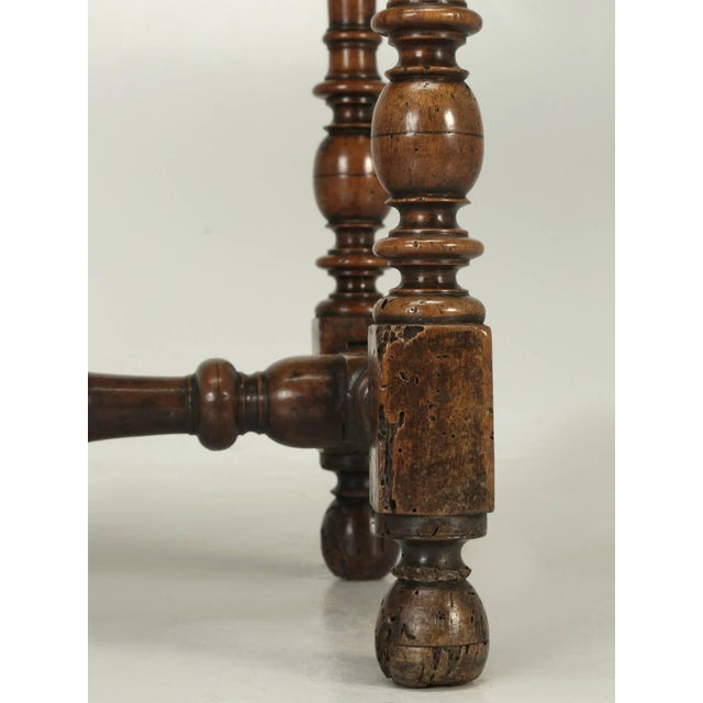 Antique Country French Side or End Table From the Early 1700s For Sale - Image 9 of 10