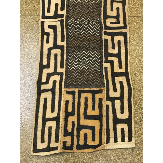 African Art Tribal Art Handwoven Kuba Cloth - Image 4 of 7