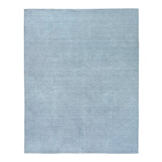 Exquisite Rugs Worcester Handwoven Wool Blue - 8'x10' For Sale
