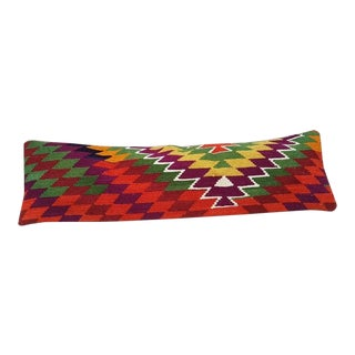 Vintage Wool Kilim Pillow Cover For Sale