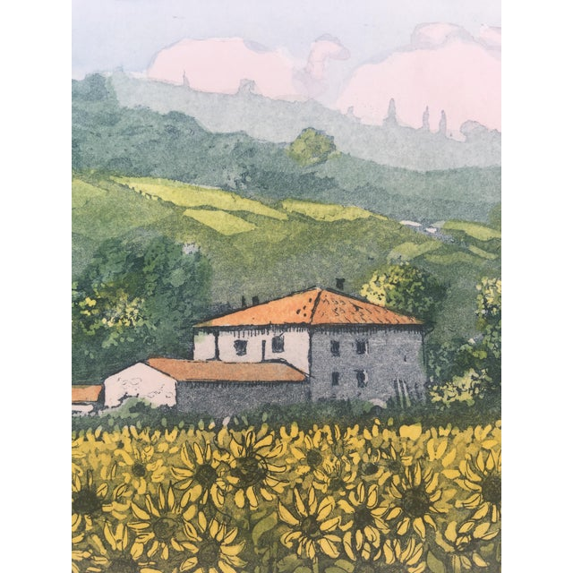 Country Vintage Italian Watercolor Print For Sale - Image 3 of 8