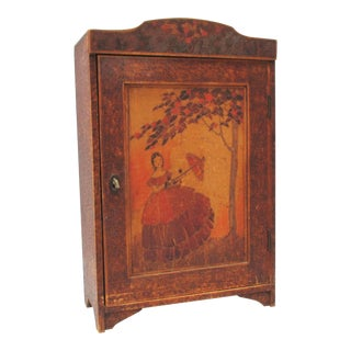 Arts and Crafts Ladies Wall Cabinet For Sale