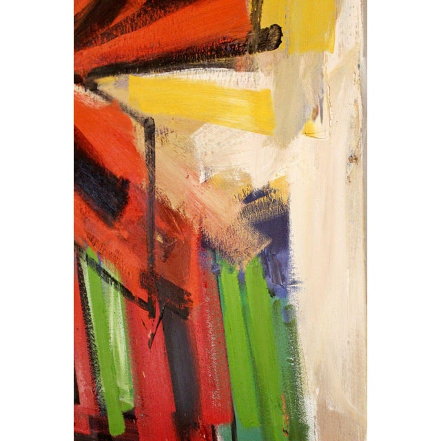 Contemporary Modern Abstract Acrylic Canvas Painting Hugh O'Donnell For Sale - Image 4 of 10