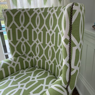 Custom Upholstered Victoria Hagan Wingback Chair Preview