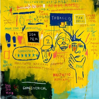 Basquiat Hollywood Africans Poster For Sale