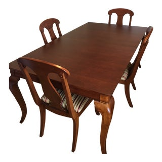Transitional Dining Table and Chairs Set