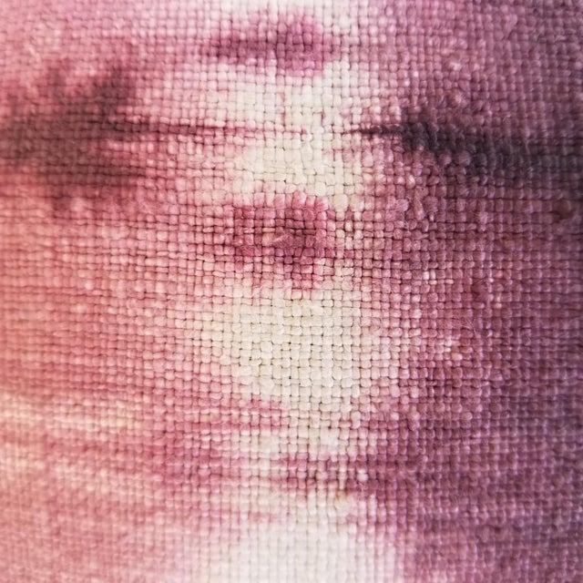 Mid-Century Modern Homespun Tie Dye Linen Pillow - a Pair For Sale - Image 3 of 4