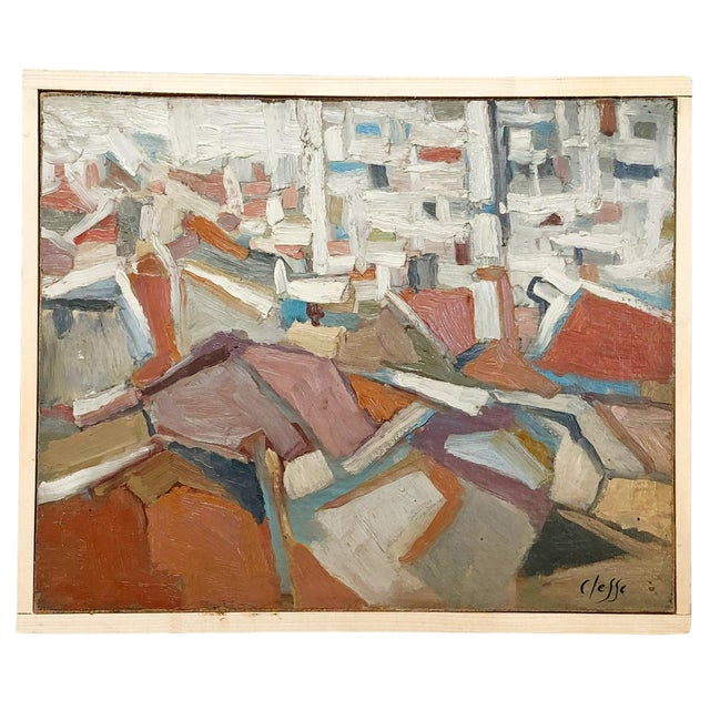 20th Century Abstract Composition of Books Painting by Daniel Clesse For Sale