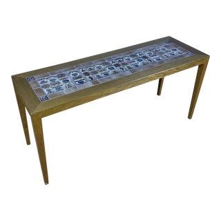1960s Severin Hansen Jr. Narrow Coffee Table, for Haslev Møbelfabrik For Sale