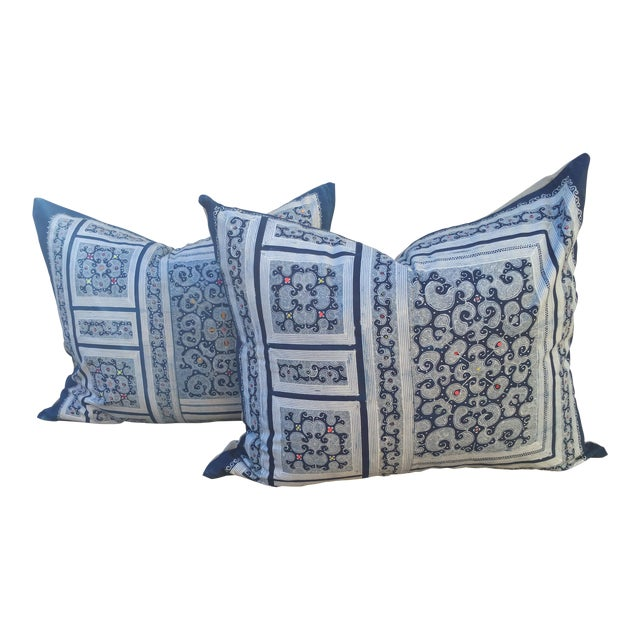 Micro Batik Tribal Pillows - Pair - Image 1 of 5