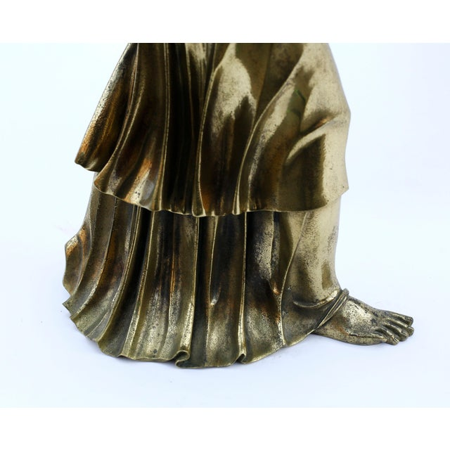 Gold 18th Century Neoclassical Bronze Doré Sculpture of a Woman For Sale - Image 8 of 11
