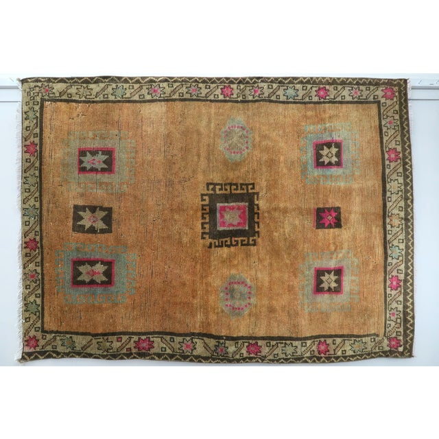"Vintage Turkish Kilim Rug-4'3'x5'10"" For Sale - Image 13 of 13"