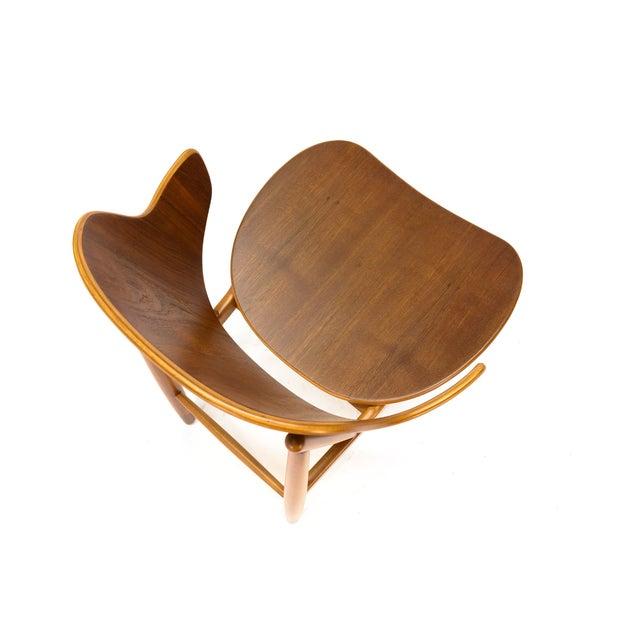 Kofod Larsen Teak Shell Lounge Chair - Image 6 of 7
