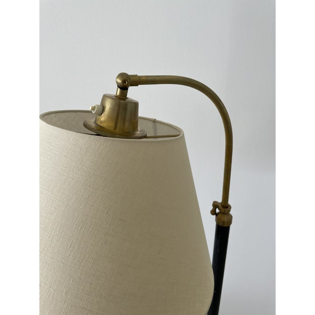1950s 1950s Jacques Adnet-Style Floor Lamp For Sale - Image 5 of 7