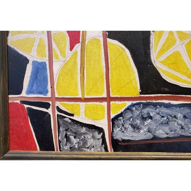 Abstract Painting by Ecole De Paris Painter Gabriel Zendel For Sale - Image 4 of 8