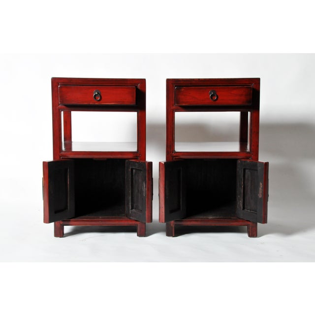 Late 19th Century Chinese Bed Side Chests - a Pair For Sale - Image 4 of 11