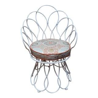 Patricia Urquioila Vintage Re-Trouve High Back Chair For Sale